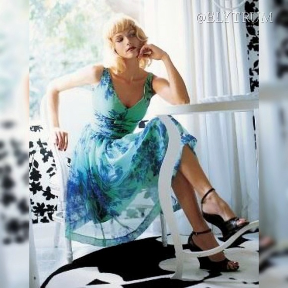Anthropologie Dresses & Skirts - Anthropologie Elevenses Silk Organdy Tea Dress